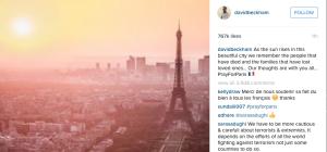 David Beckham #PrayForParis