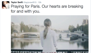 Taylor Swift #PrayForParis