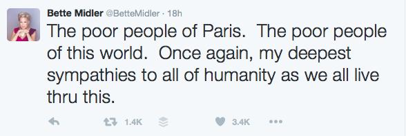 Bette Midler #PrayForParis